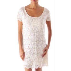 ARITZIA TALULA Floral Lace Cream Dress Size XS